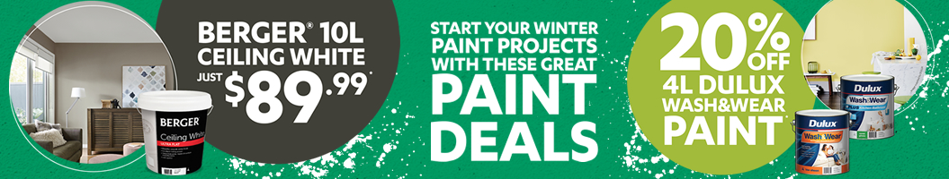 Start your winter paint projects!